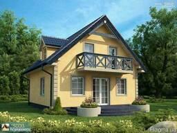 Дом 8,12 на 7,35м. 2 эт. Площадь 119 м2. Срок 2 мес.