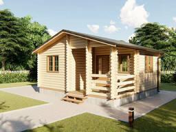 Дом деревянный для дачи из профилированного бруса 6х5, 5 м