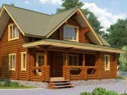 Дом деревянный из оцилиндрованного бревна 8х9