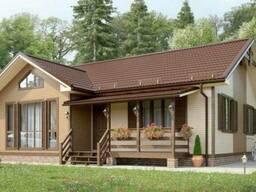 Дом деревянный из профилированного клееного бруса 11х9 м
