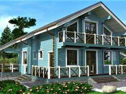 Дом деревянный из профилированного клееного бруса 15х13 м
