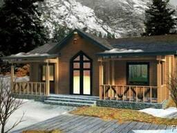 Дом деревянный из профилированного бруса 11х10 м