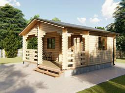 Дом деревянный садовый из профилированного бруса 5, 5х5, 8 м