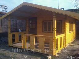 Дом деревянный сборный из профилированного бруса