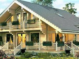 Дом двухетажный из профилированного клееного бруса 12х14 м