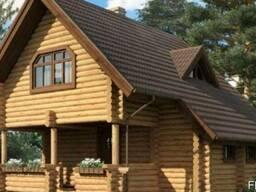 Дом из оцилиндрованного бревна 7х11 м
