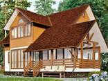 Дом из профилированного клееного бруса 10х10 м - фото 1