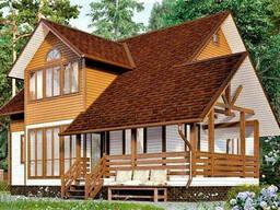 Дом из профилированного клееного бруса 10х10 м