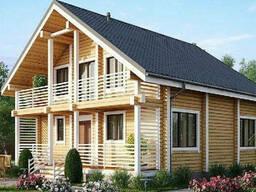 Дом из профилированного клееного бруса 10х8 м