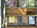 Дом из профилированного клееного бруса 10х8 м - фото 2