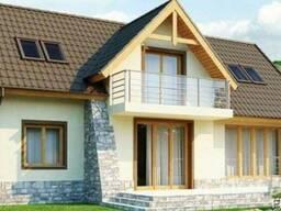 Строительство дома из профилированного бруса 18х13 м