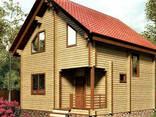 Дом из профилированного клееного бруса 7×7 м - фото 1