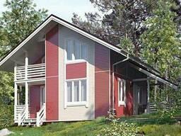 Дом из профилированного клееного бруса 7х7 м