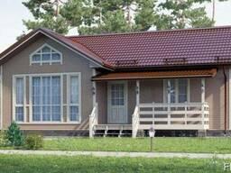 Дом из профилированного бруса 8х11 .