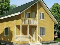 Деревяный дом из профилированного бруса 8х7
