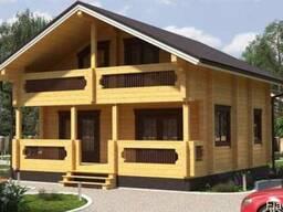Дом из профилированного бруса 9х8 м