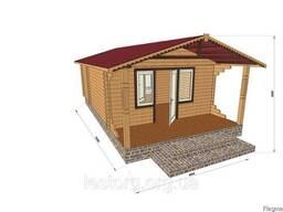 Дом из профилированного бруса с верандой 4.2х7.5