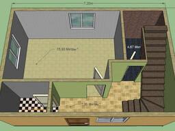 Дом каркасный из сип-панелей 7,2 на 5 м, 2 этажа, 72 м2