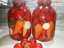 Домашняя консервация. Маринованные помидоры, огурцы на зиму.