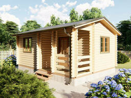Домик деревянный садовый из профилированного бруса 6х4,5 м
