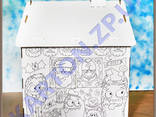 Игровой Домик раскраска из картона - фото 3