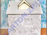Игровой Домик раскраска из картона - фото 4