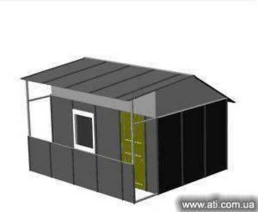 Домик садовый дачный металлический, кпп для охраны