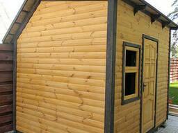 Строительство дома садовода деревянного сборного...