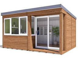 Домик садовый из профилированного бруса 4. 5х3. 5 м