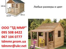 Игровой деревянный домик, детские деревянные домики