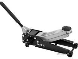 Домкрат гідравлічний підкатний низькопрофільний YATO 2.5 т 85-520 мм