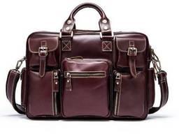 Дорожная сумка-портфель Vintage Бордовая, Бордовый Vntg14776
