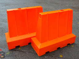 Дорожній пластиковий бар'єр помаранчевий 1,1х0,8х0,42 м