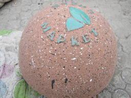Дорожній відбійник на півсфера з логотипом, d 450*h250