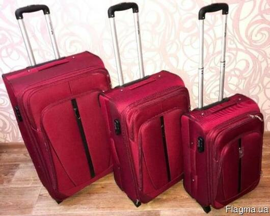 Дорожный чемодан - валіза WINGS 1706/1710 сумка на колесах