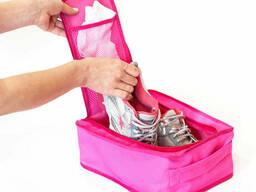Дорожный органайзер для обуви Organize C018 розовый. ..