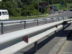 Дорожные ограждения металлические барьерного типа 11ДО, 11ДД