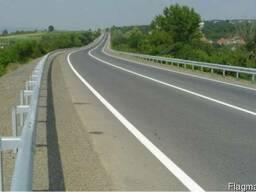 Дорожные ограждения металлическиебарьерного типа 11ДО, 11ДД