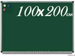 Доска для мела магнитная 100х200см для ВУЗов школьная