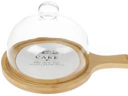 Доска для сыра, торта, пирожных со стеклянным колпаком
