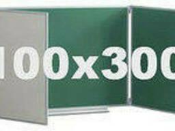 Доска комбинированная для мела и маркера 300x100 см ABC. ..