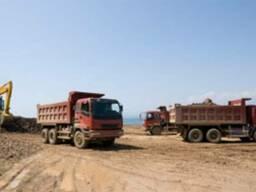 Доставка песка щебня чернозем глина грунт на подсыпку и т. д