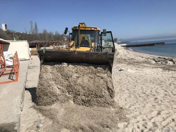 Доставка песка (устройство пляжа) Одесса.