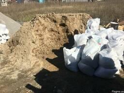Доставка песок, отсев щебень в мешках цемент, відсів пісок