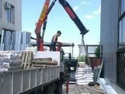 Доставка стройматериалов краном-манипулятором