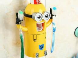 Дозатор зубной пасты с держателем зубных щеток Миньон