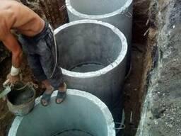 Дренажная Выгребная яма, септик, канализация, с переливом. ..