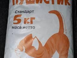 Древесный кошачий наполнитель