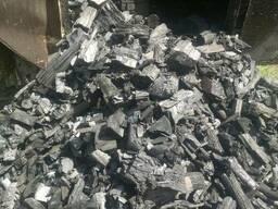 Древесный уголь оптом от 1000 кг в полипропиленовом мешке