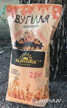 Древесный уголь с твердых пород древесины